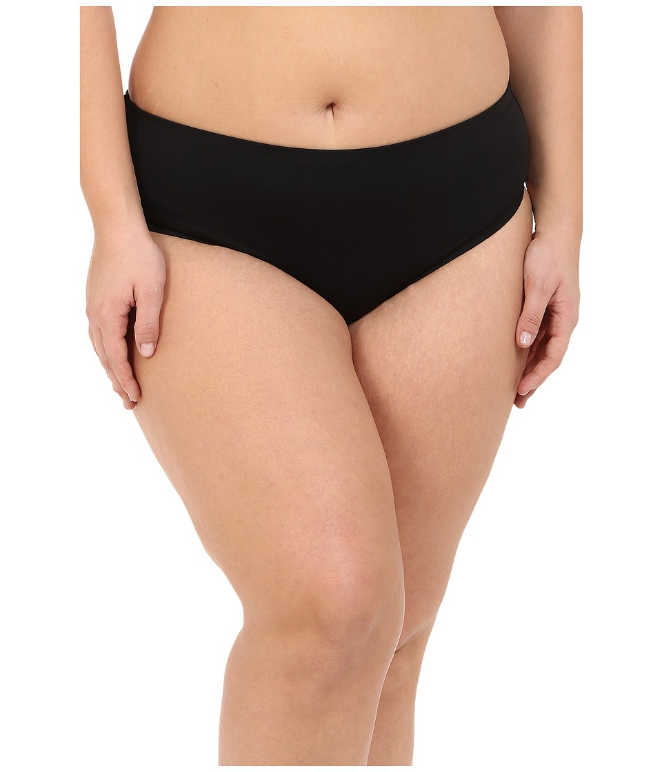 BECCA by Rebecca Virtue Plus Size Becca ETC Caravan Solid Full Pants Black Swimwear