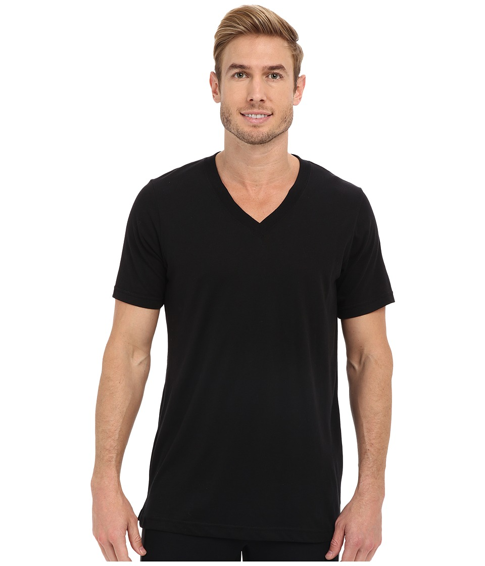ALO - Core V-Neck Tee (Black Tri-Blend) Men's T Shirt