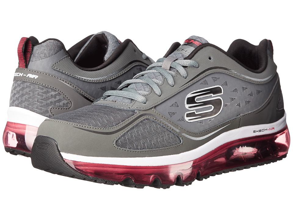 SKECHERS - Skech Air Supreme (Charcoal/Red) Men's Shoes