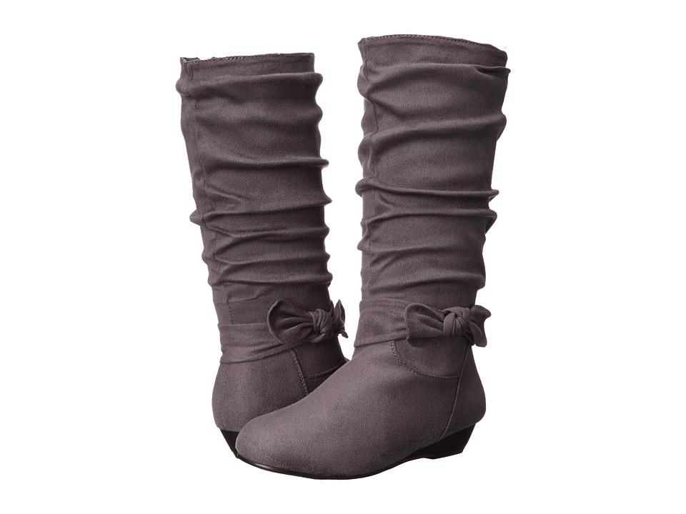 UNIONBAY Kids - Mona-G (Little Kid/Big Kid) (Grey Suede) Girls Shoes