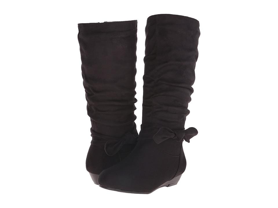 UNIONBAY Kids - Mona-G (Little Kid/Big Kid) (Black Suede) Girls Shoes