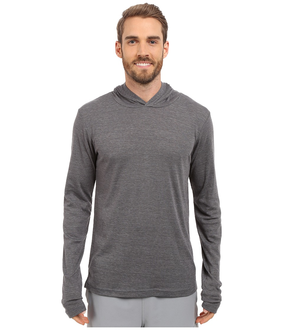 ALO Core Long Sleeve Hoodie (Asphalt Performance Blend) Men