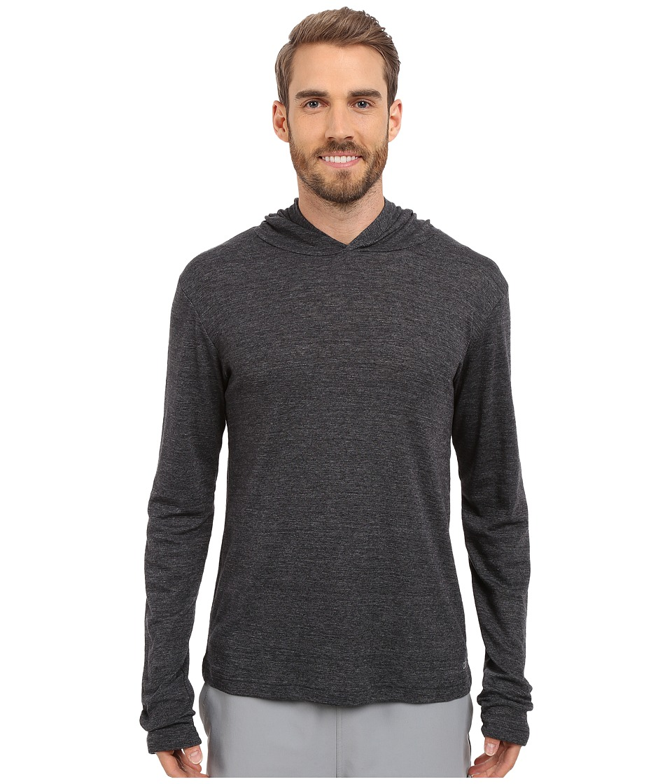 ALO - Core Long Sleeve Hoodie (Black Performance Blend) Men's Sweatshirt