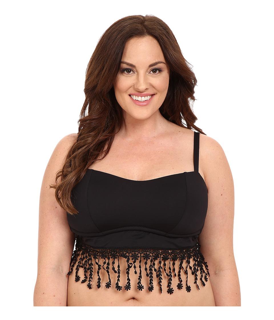 BECCA by Rebecca Virtue - Plus Size Becca ETC Venise Bralette (Black) Women's Swimwear
