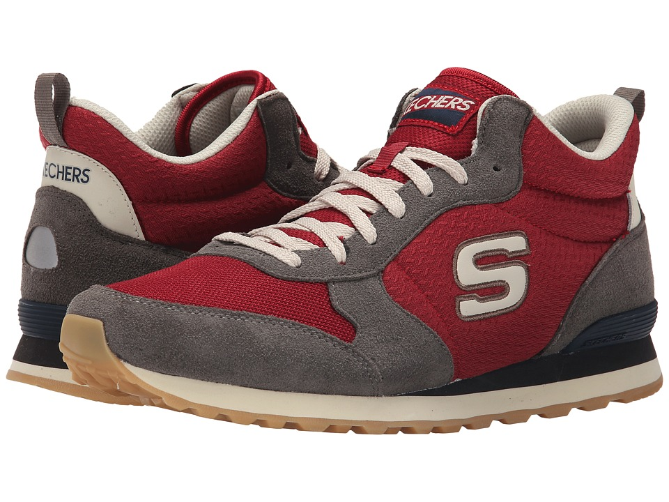 SKECHERS - OG 85 (Charcoal/Red) Men's Shoes