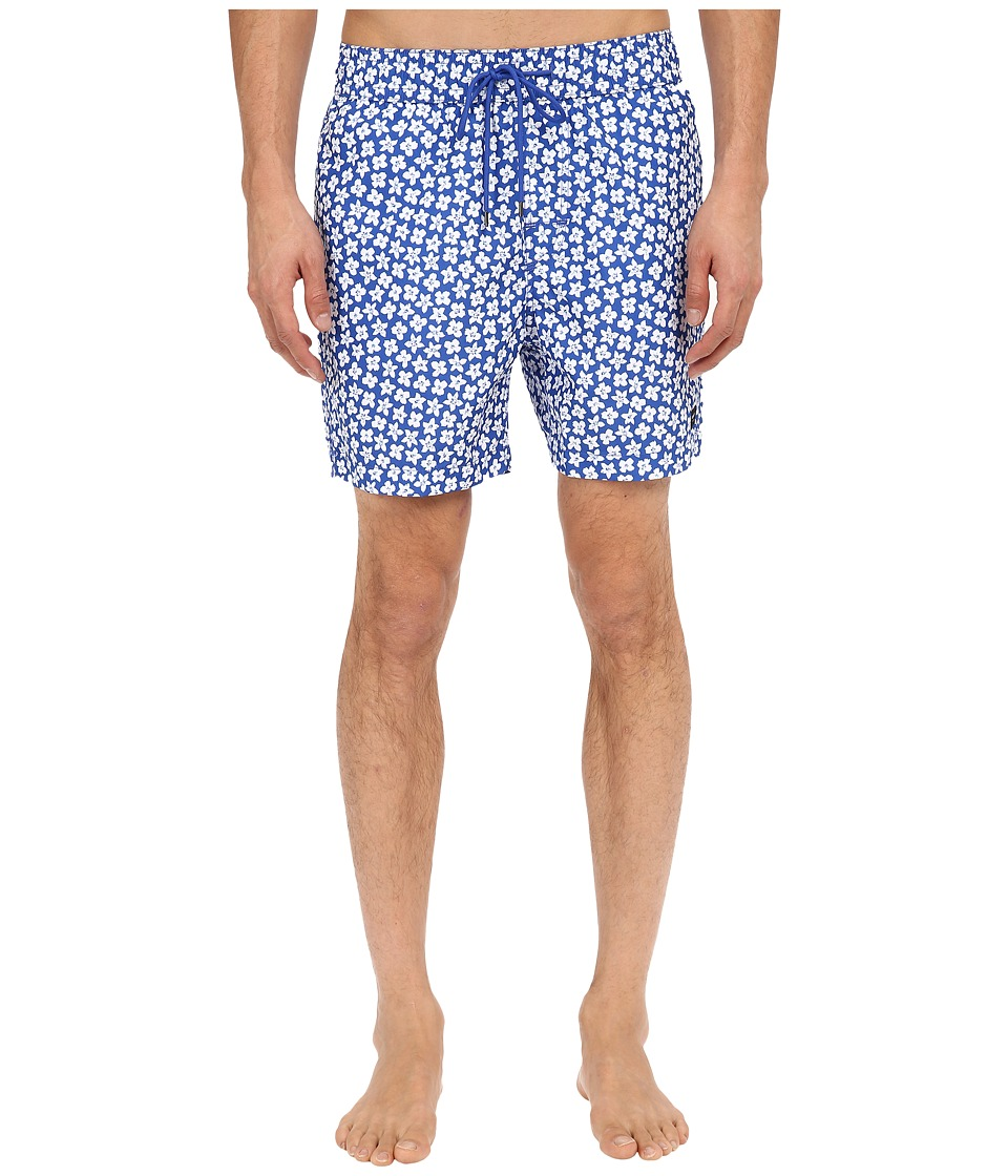Jack Spade - Floral Grannis Swim Trunks (Bright Blue) Men's Swimwear