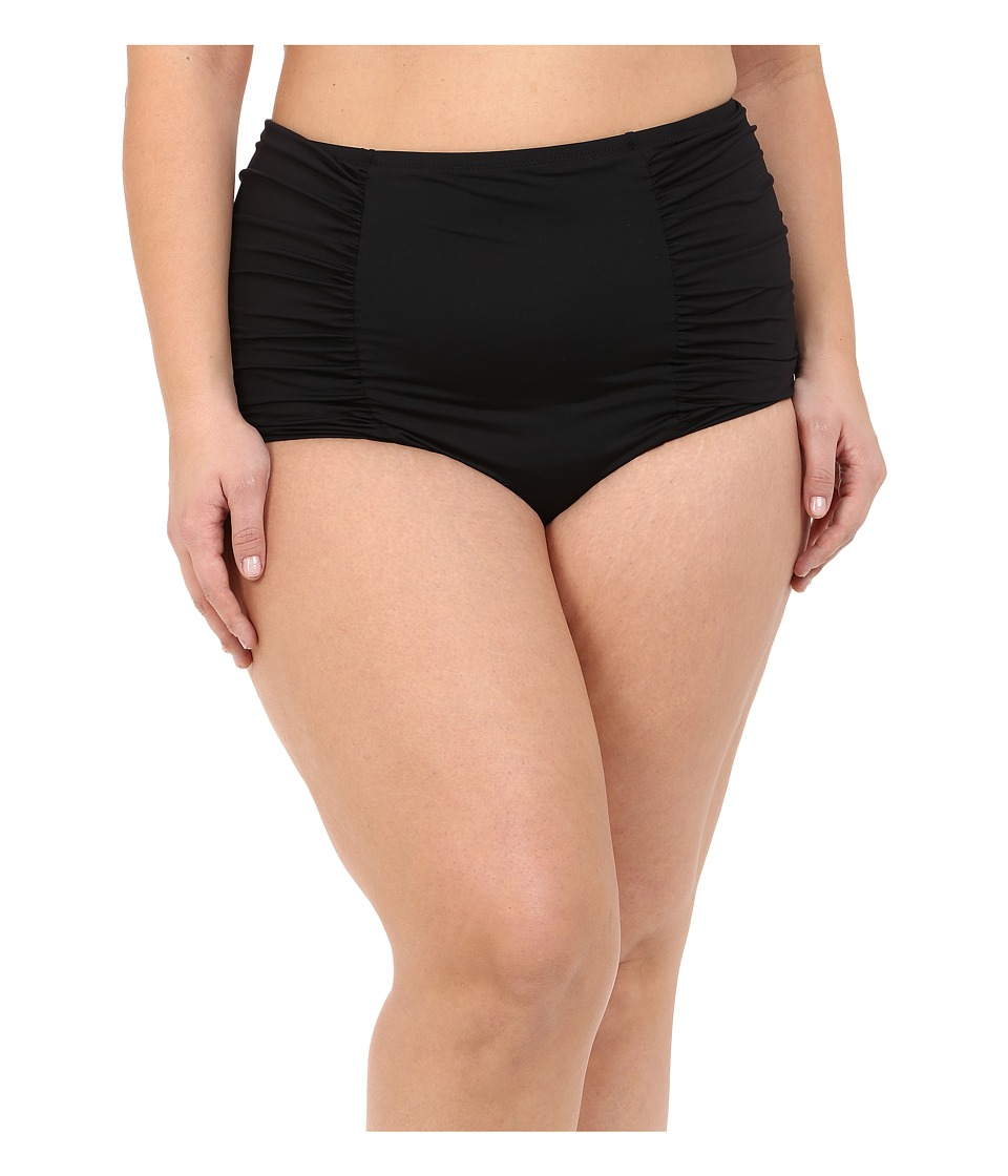 BECCA by Rebecca Virtue - Plus Size Becca ETC Venise Cut Bottom (Black) Women's Swimwear