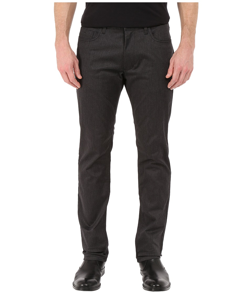 Kenneth Cole Sportswear - Slim Five-Pocket Pants (Charcoal Combo) Men's Casual Pants