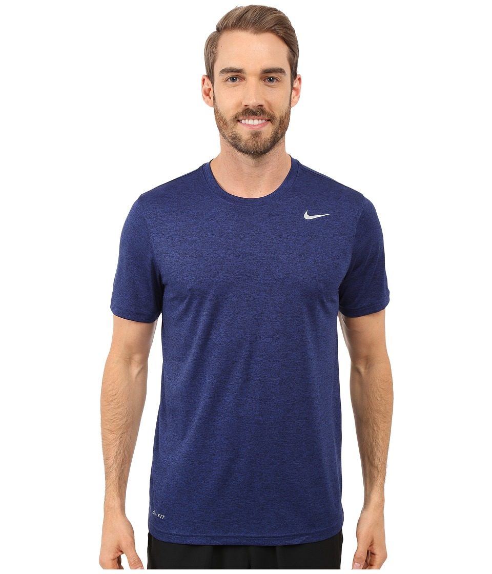Nike - Legend 2.0 Short Sleeve Tee (Deep Royal Blue/Black/Black/Matte Silver) Men's T Shirt