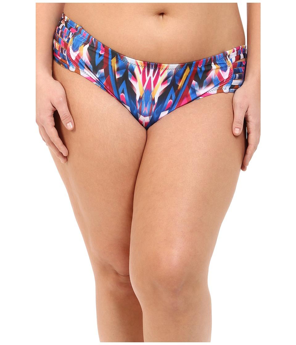 BECCA by Rebecca Virtue - Plus Size Becca ETC Aura Strappy Hipster (Multi) Women's Swimwear plus size,  plus size fashion plus size appare