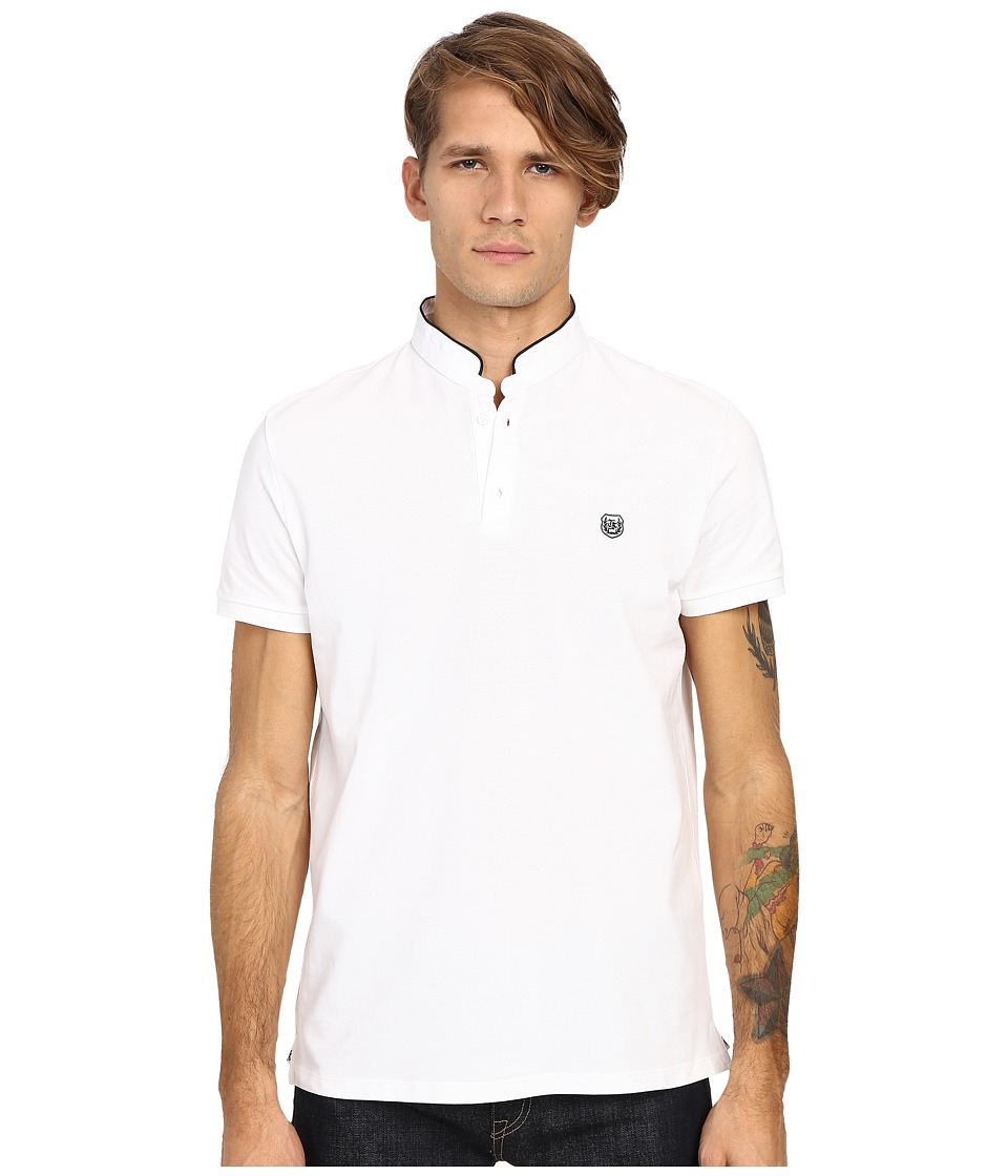 The Kooples - Sport Shiny Pique Polo (White 1) Men's Short Sleeve Pullover