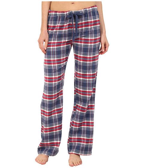 P.J. Salvage - Great Outdoors Plaid Pajama Pants (Navy) Women