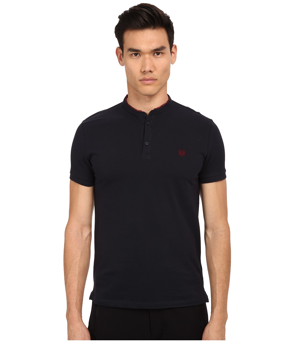 The Kooples - Sport Shiny Pique Polo (Navy) Men's Short Sleeve Pullover