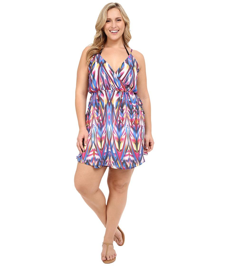 BECCA by Rebecca Virtue - Plus Size Becca ETC Aura Dress Cover-Up (Multi) Women's Swimwear