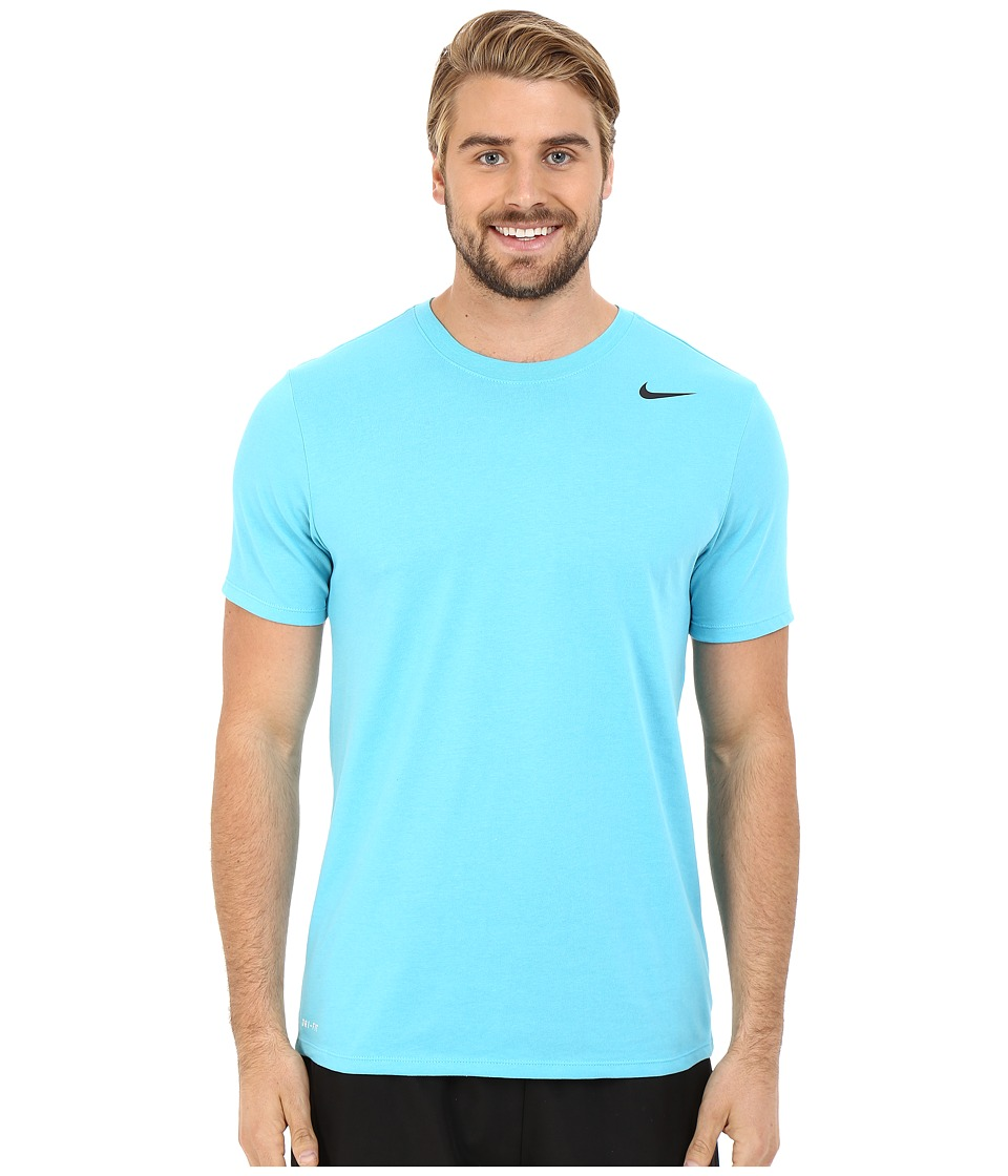 Nike - Dri-FIT Version 2.0 T-Shirt (Omega Blue/Omega Blue/Black) Men's T Shirt