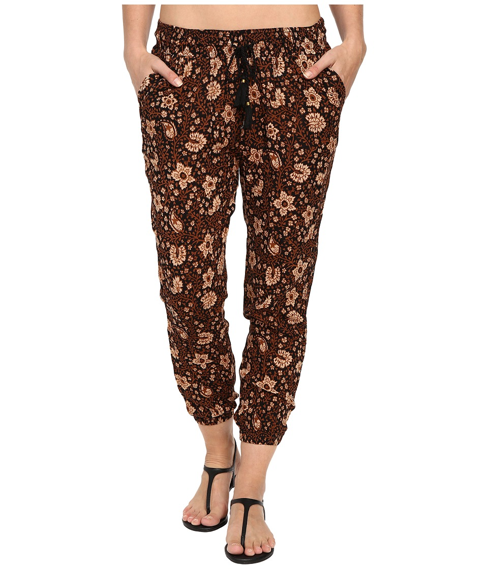 Amuse Society - Tash Printed Gauze Beach Pants (Black) Women's Casual Pants