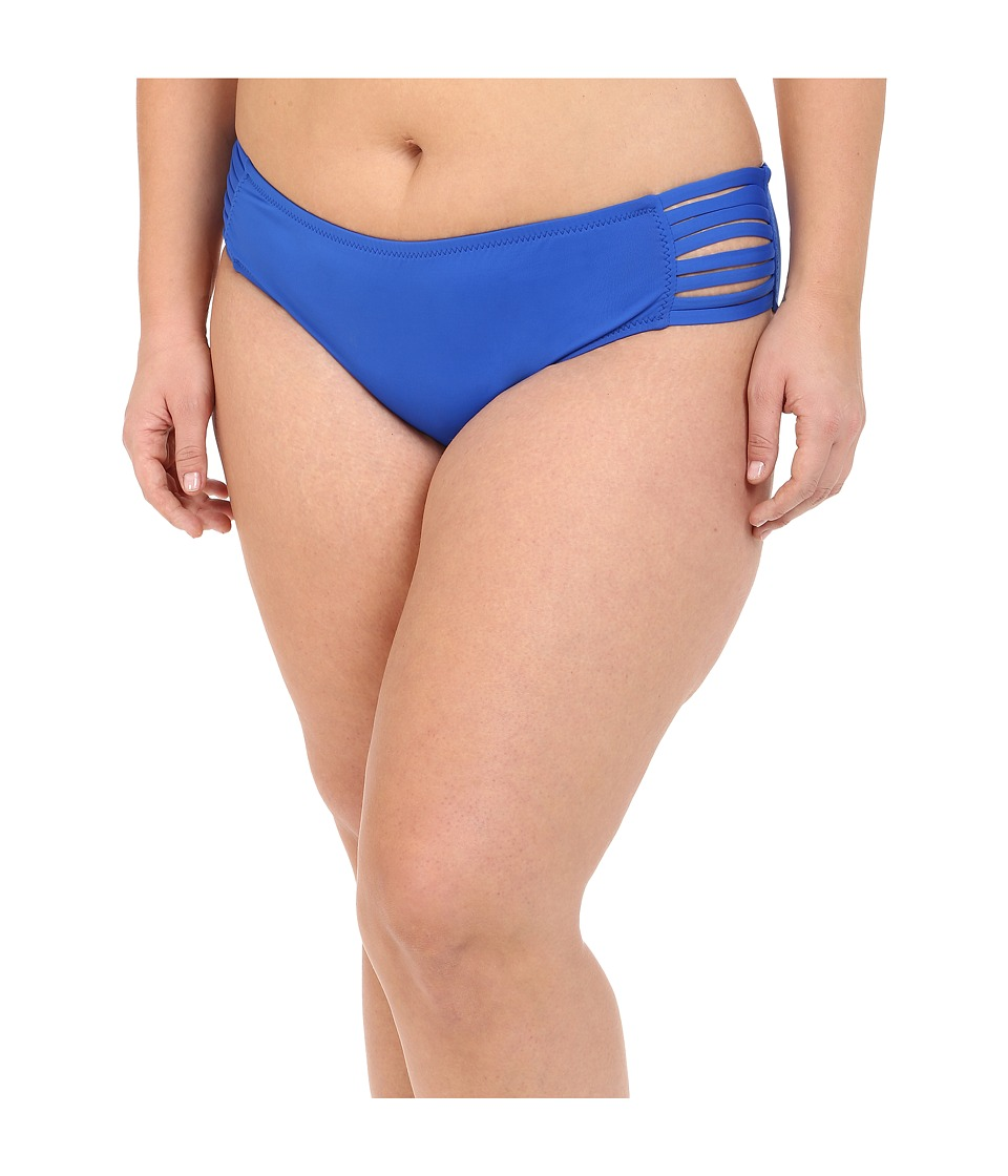 BECCA by Rebecca Virtue - Plus Size Becca ETC Janis Strappy Hipster (Electric Blue) Women's Swimwear plus size,  plus size fashion plus size appare