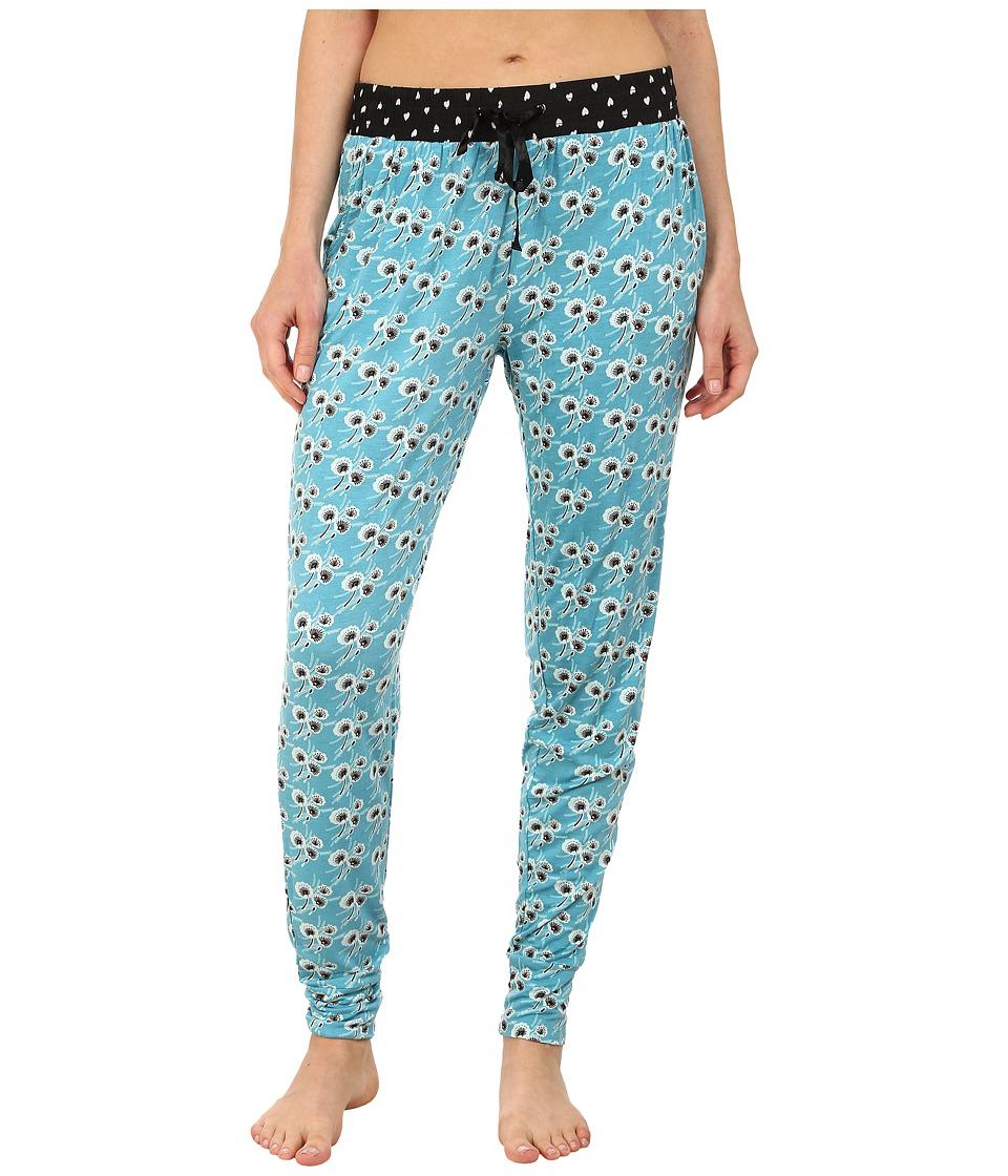 P.J. Salvage - Dandelion Ditsy Floral Print Jogger Pants (Teal) Women's Pajama