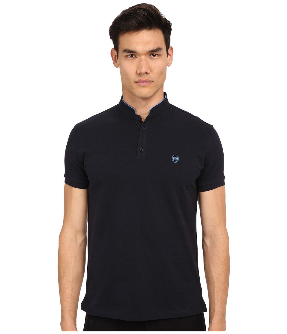 The Kooples - Sport Shiny Pique Polo (Navy 1) Men's Short Sleeve Pullover