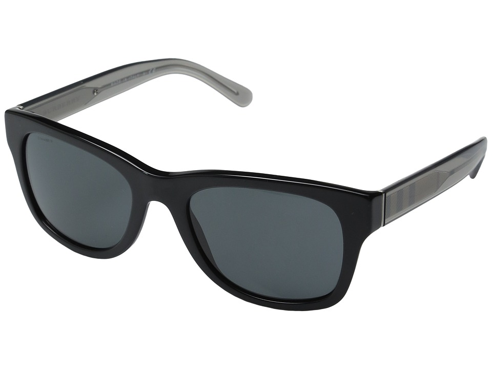 Burberry - 0BE4211 (Black/Transparent Charcoal/Grey) Fashion Sunglasses