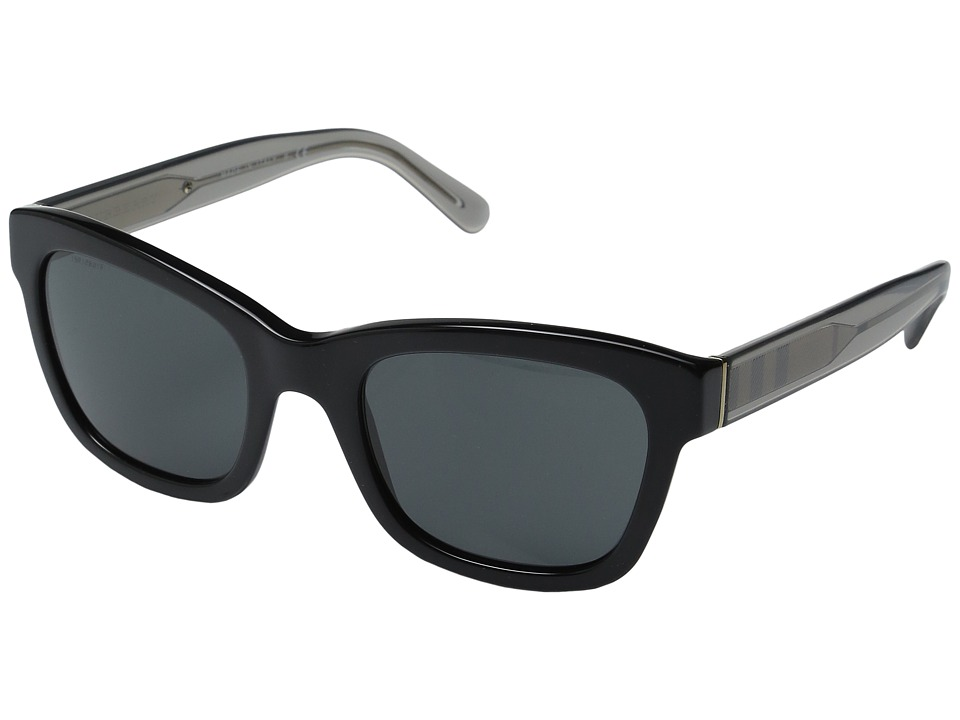 Burberry - 0BE4209 (Black/Transparent Grey Charcoal/Grey) Fashion Sunglasses