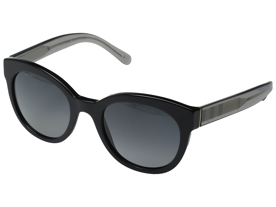 Burberry - 0BE4210 (Black/Transparent Charcoal/Polar Gradient Grey) Fashion Sunglasses