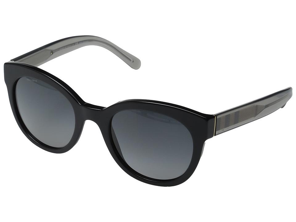Burberry - 0BE4210 (Black/Transparent Charcoal/Polar Gradient Grey) Fashion Sunglasses