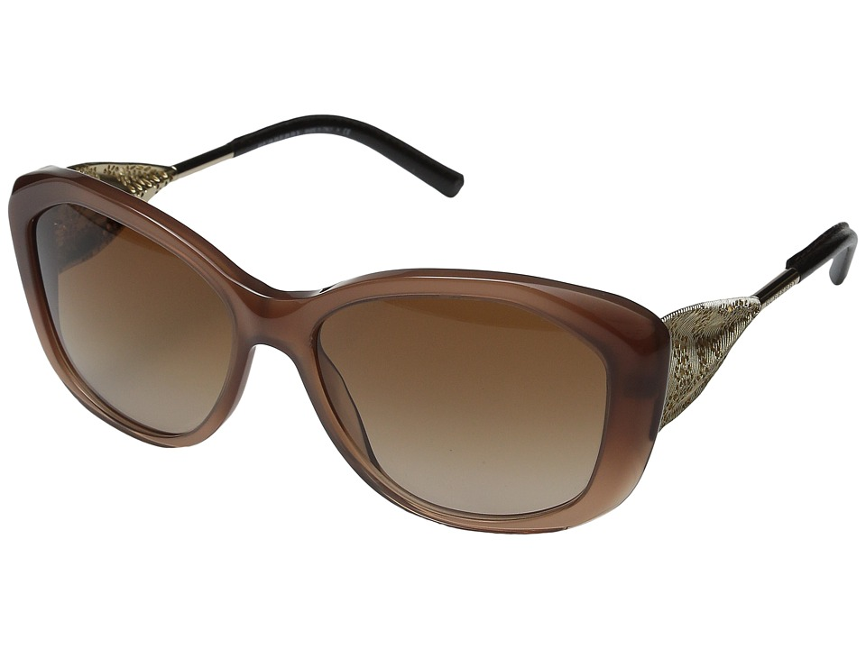 Burberry - 0BE4208Q (Gradient Dark Amber/Gold/Gradient Brown) Fashion Sunglasses