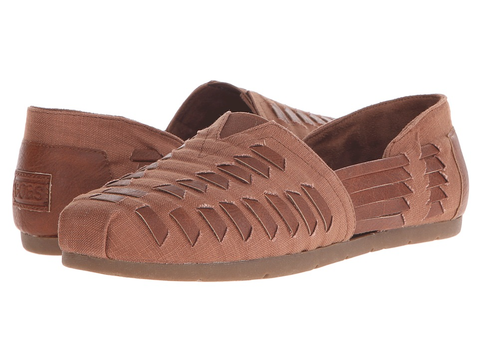 BOBS from SKECHERS - Luxe Bobs (Brown) Women's Slip on Shoes