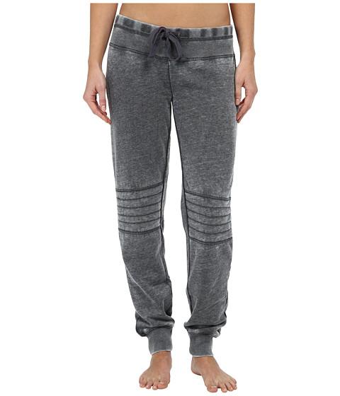 P.J. Salvage - Vintage Camo Fleece Pants (Charcoal) Women's Clothing