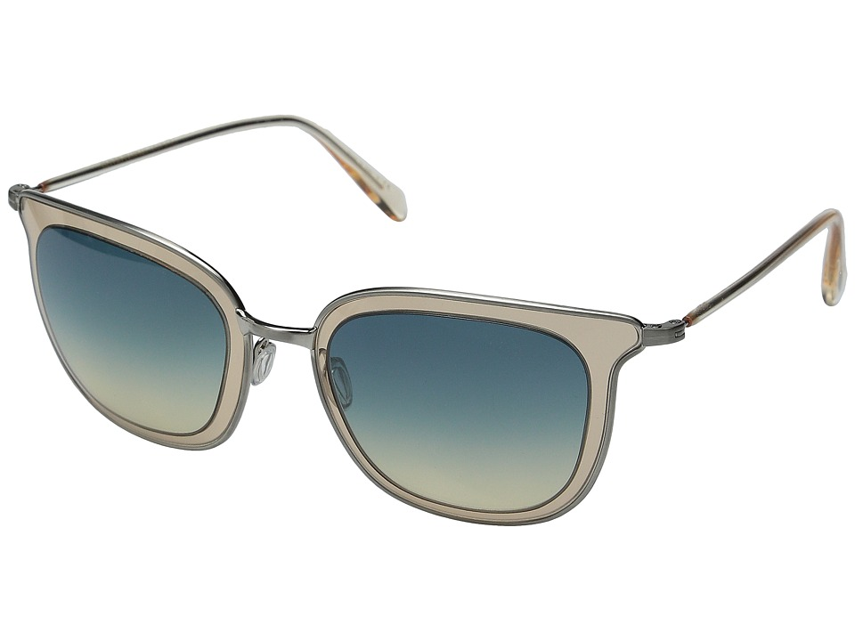 Oliver Peoples - Annetta (Brushed Silver/Opal Flash/Dusk Gradient) Fashion Sunglasses