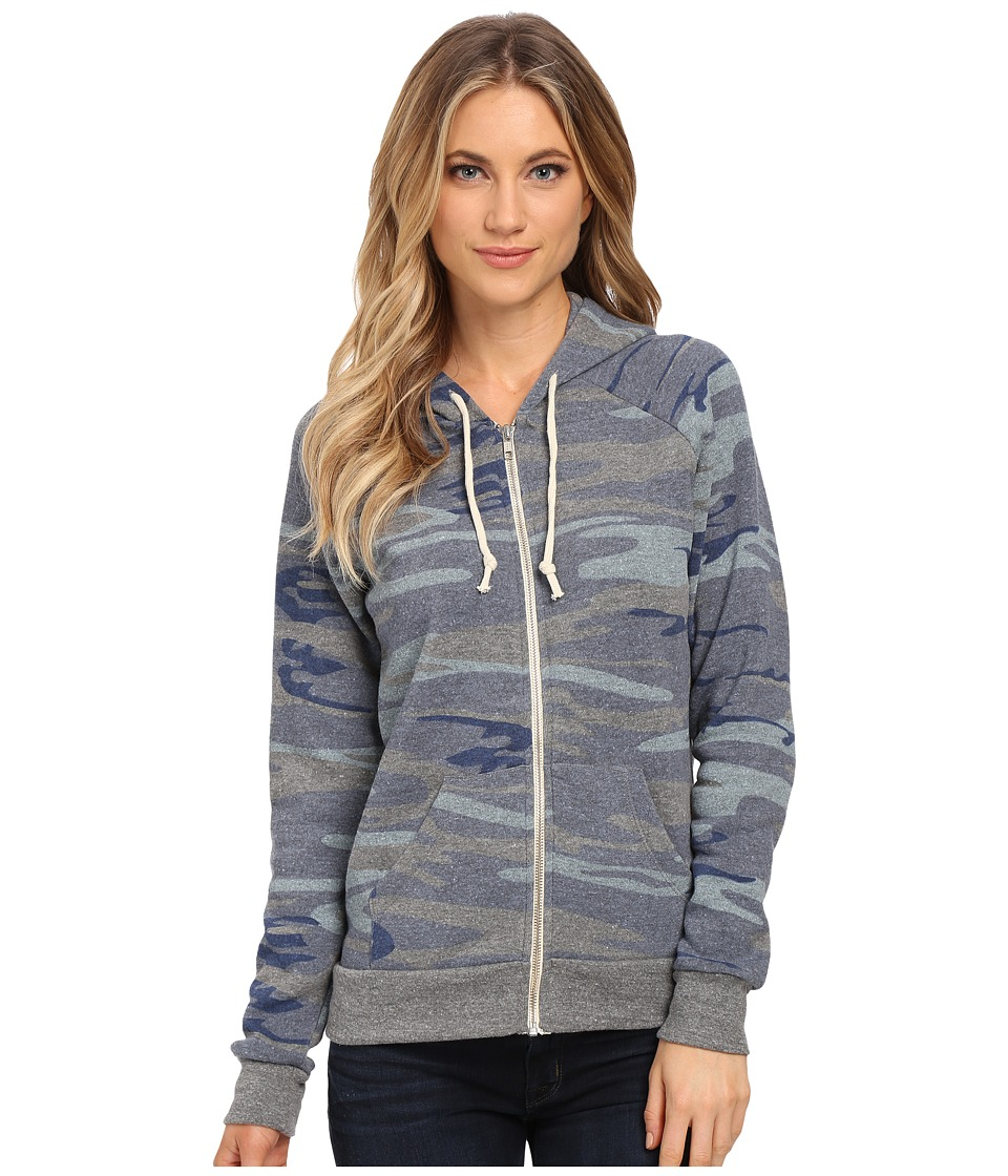 Alternative - Adrian Hoodie (Navy Camo) Women's Sweatshirt