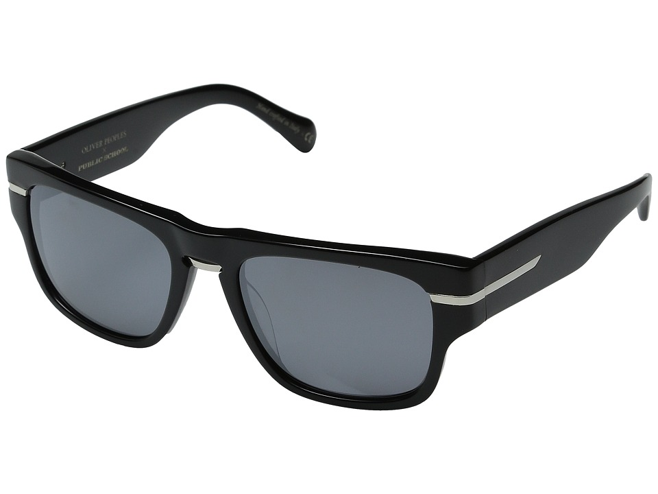 Oliver Peoples - Public School (Black/Obsidian Mirror Polarized) Fashion Sunglasses