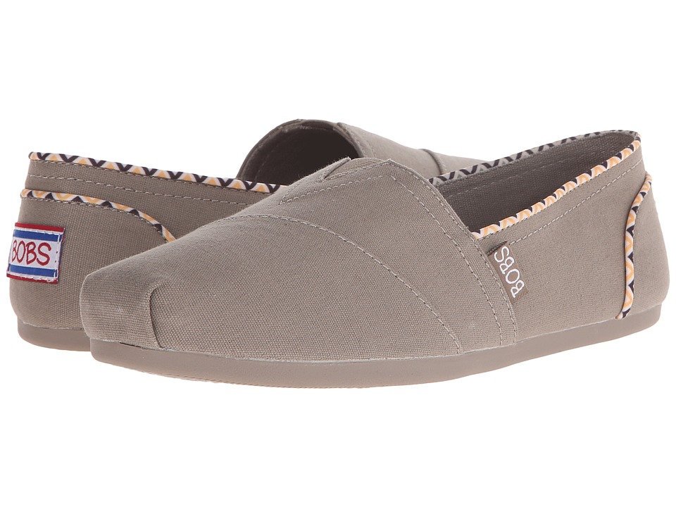 BOBS from SKECHERS - Bobs Plush (Taupe) Women's Slip on Shoes