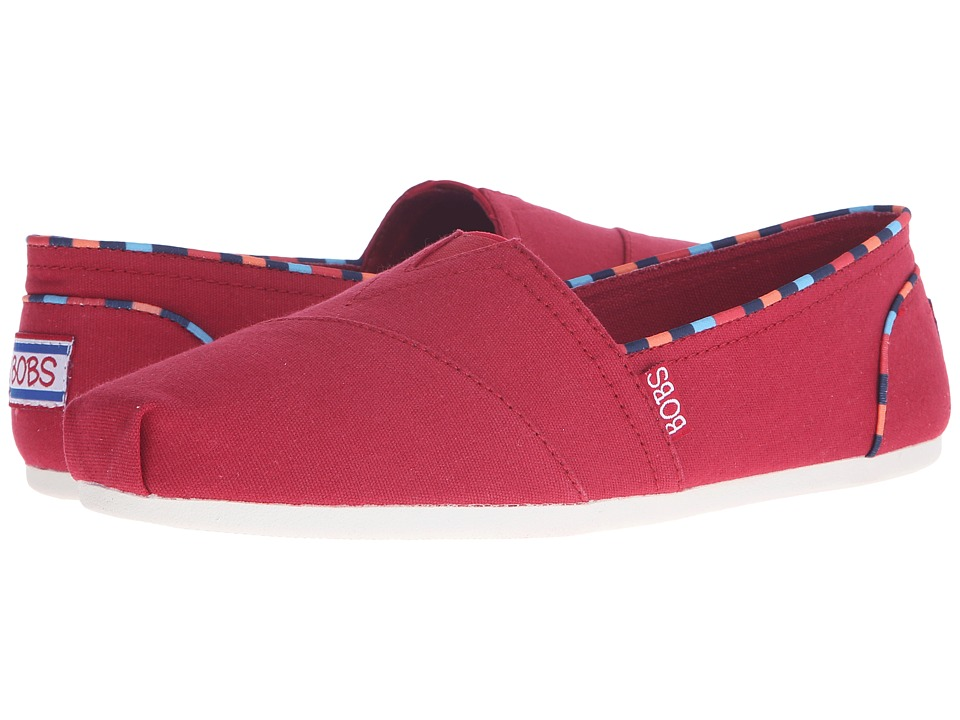 BOBS from SKECHERS - Bobs Plush (Red) Women's Slip on Shoes