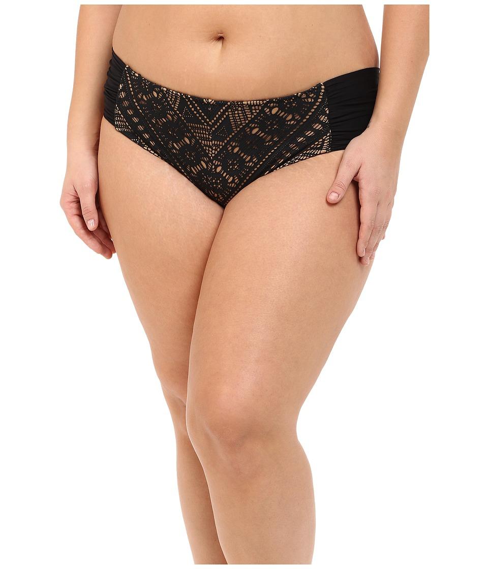 BECCA by Rebecca Virtue - Plus Size Becca ETC La Boheme Hipster (Black) Women's Swimwear plus size,  plus size fashion plus size appare