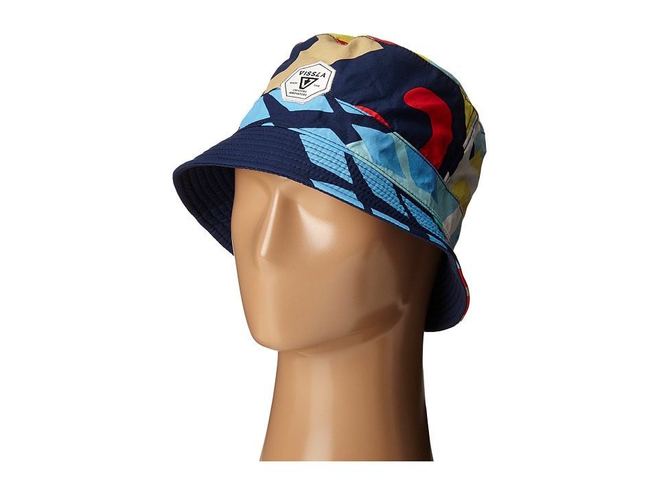 VISSLA - Cut Up Bucket Hat (Dark Navy) Bucket Caps