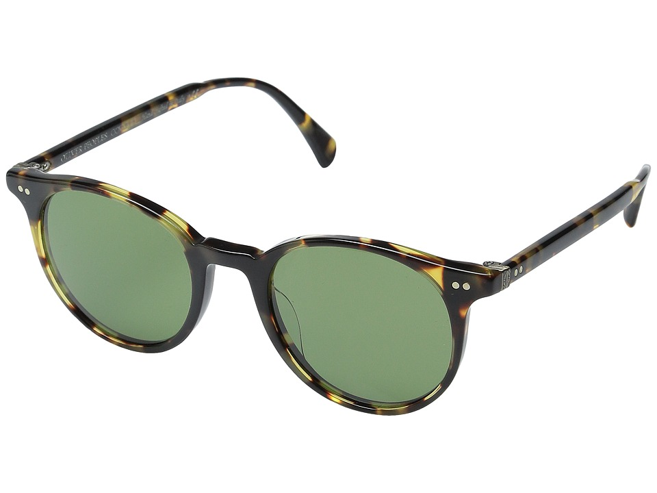 Oliver Peoples - Delray Sun (VDTB/Green C) Fashion Sunglasses