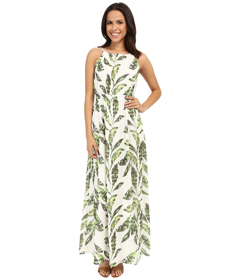 Tommy Bahama - Watercolor Palmier Empire Gown (Lace) Women's Dress