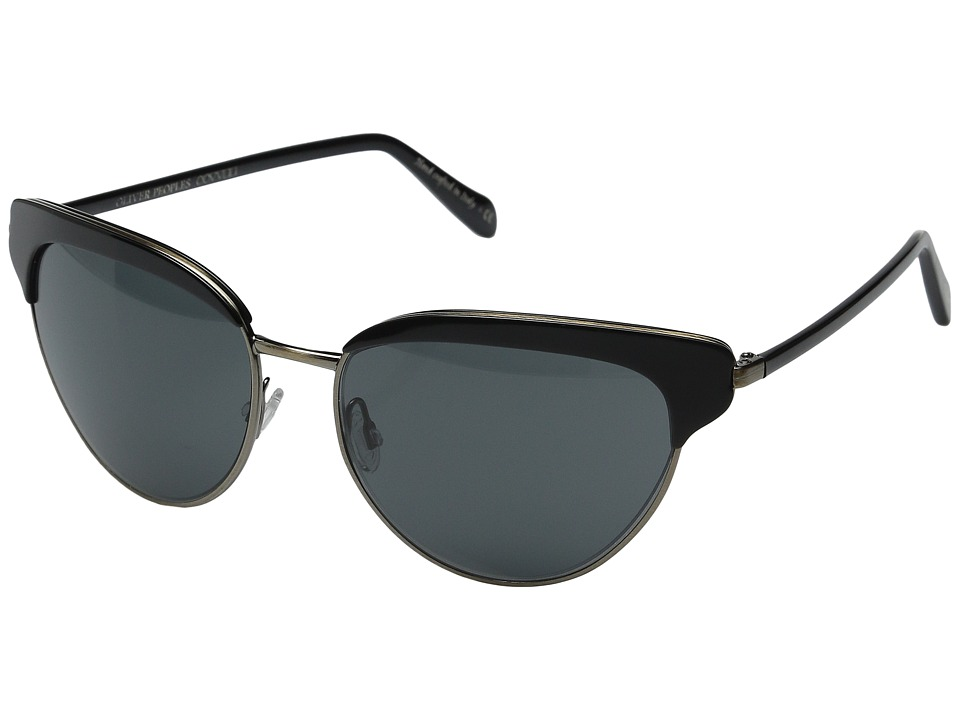 Oliver Peoples - Josa (Black/Antique Gold/Grey) Fashion Sunglasses