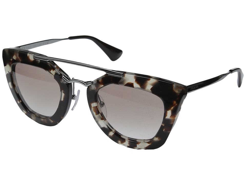 Prada - 0PR 09QS (Brown/Brown Gradient) Plastic Frame Fashion Sunglasses