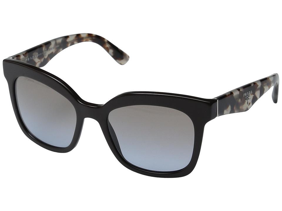 Prada - 0PR 24QS (Spotted Opal Brown/Brown Gradient) Fashion Sunglasses
