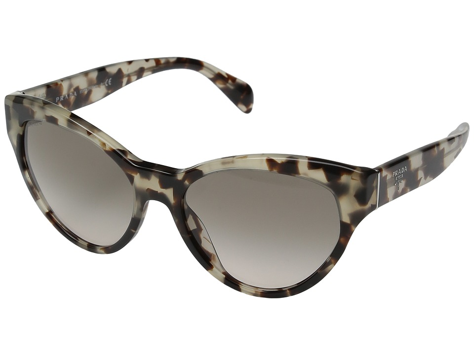 Prada - 0PR 08SS (Spotted Opal Brown/Rose Gradient Grey) Fashion Sunglasses
