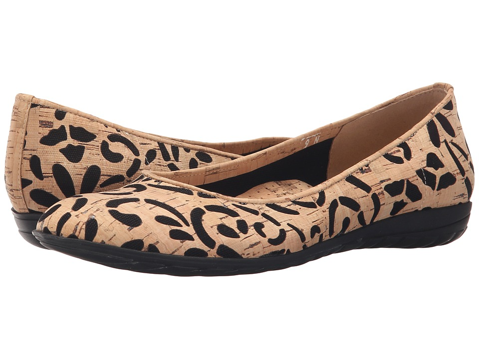 Sesto Meucci - Beryl (Natural Villa Cork/Mesh Black Cloth/Natural Cork) Women's Slip on Shoes