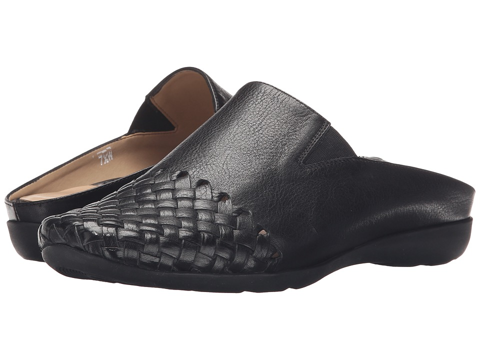 Sesto Meucci - Gwyne (Black Saratoga/Black Rubber) Women's Flat Shoes