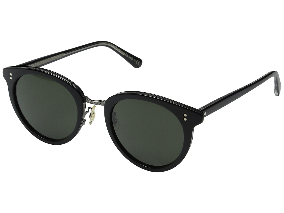 Oliver Peoples - Spelman (Black/Antique Pewter/Grey) Fashion Sunglasses