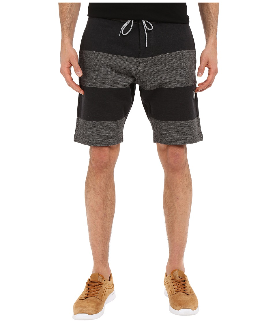 VISSLA - Sofa Surfer Stripe Fleece Shorts 20 (Black) Men's Shorts