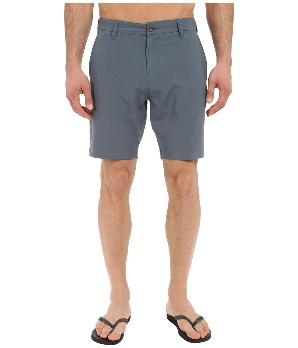 VISSLA - The Ledge 4-Way Stretch Hybrid Walkshorts 19 (Dark Slate) Men's Shorts