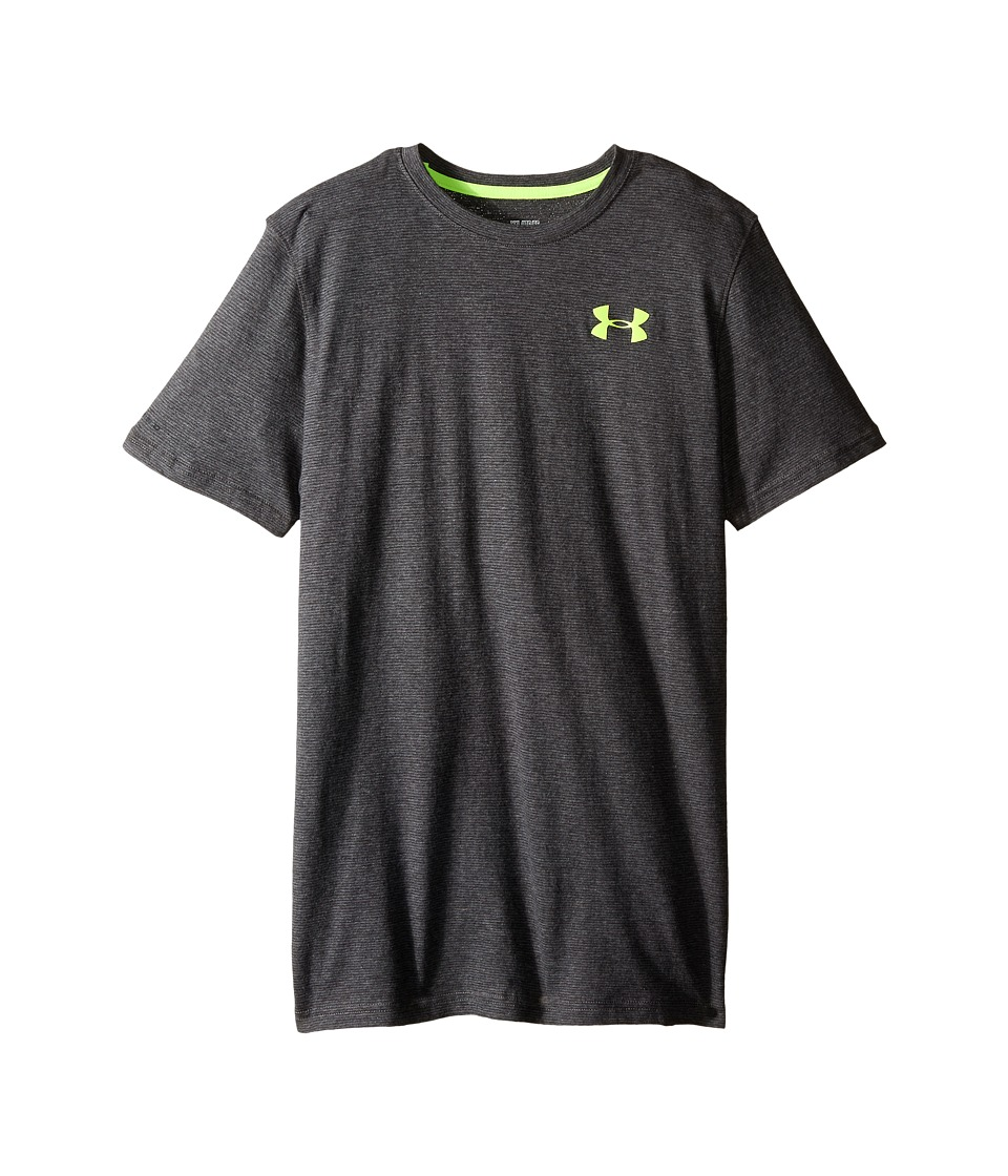 Under Armour Kids - Boys Charged Cotton S/S Tee (Big Kids) (Carbon Heather) Boy's T Shirt