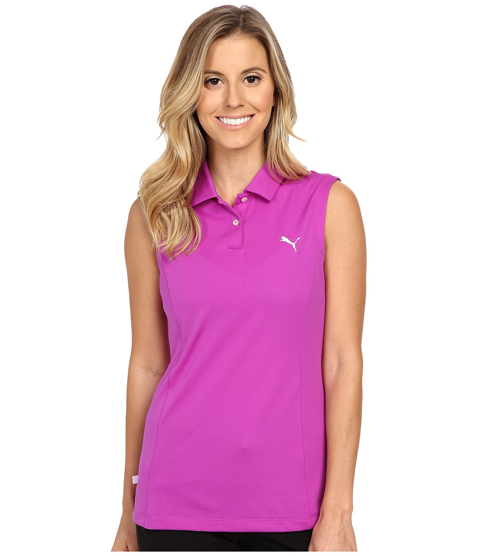 PUMA Golf - Pounce Sleeveless Polo (Purple Cactus Flower) Women's Sleeveless